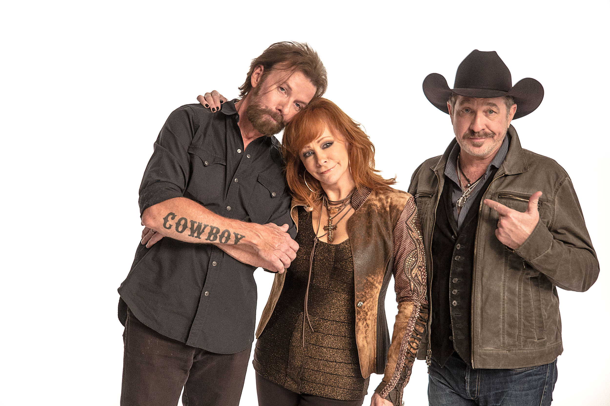 Ronnie, Reba and Kix, by Steven Martine, music celebrity photographer