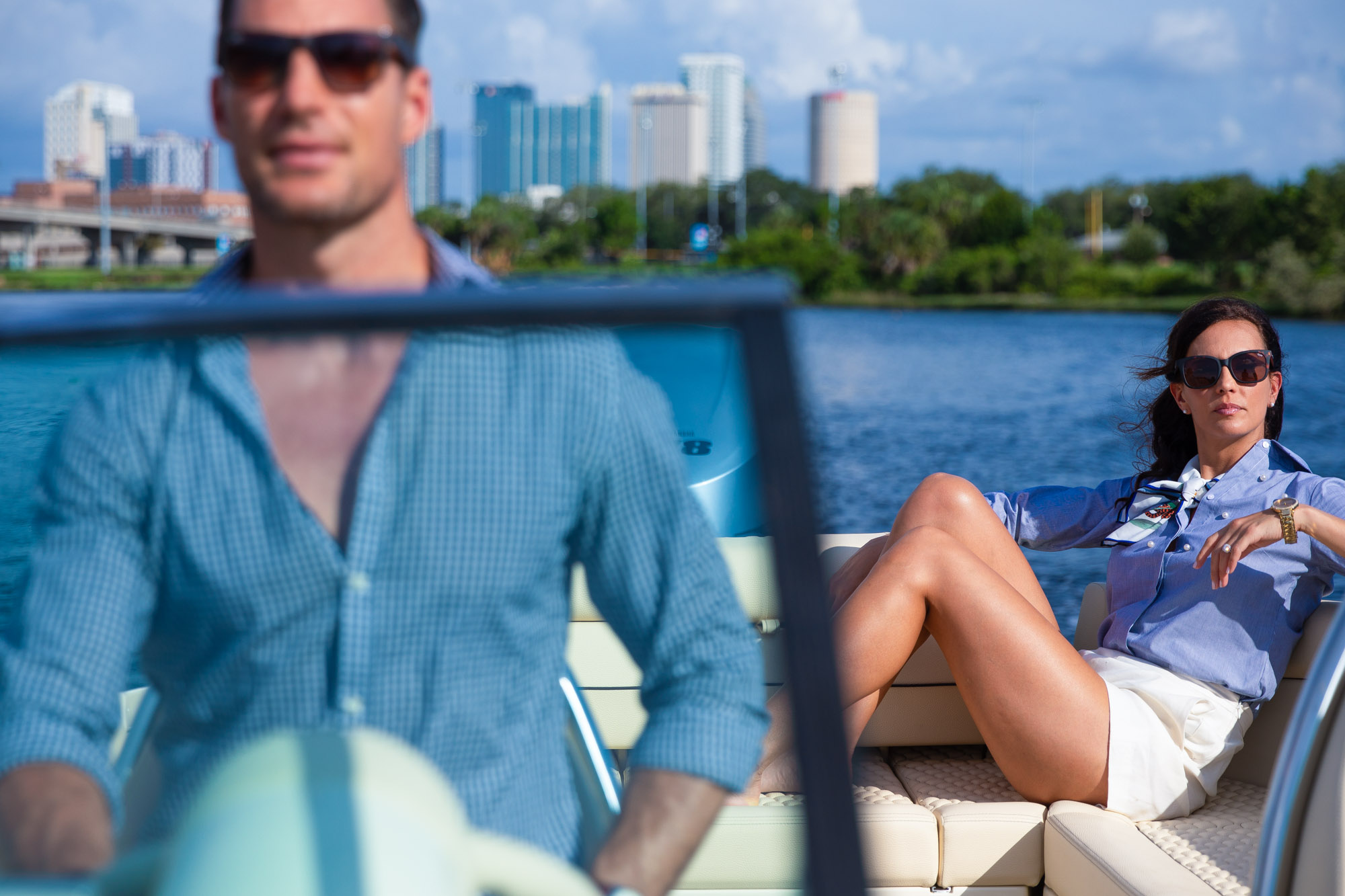 Boating lifestyle on Tampa Florida waterfront